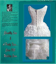Chantilly Lace & And A Pretty Face Wedding Gown by whiteriver51, $325.00