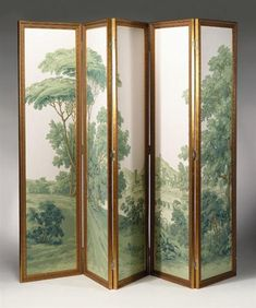 Zuber Wallpaper Panels | French five panel wallpaper screen zuber & cie, early 20th century ...