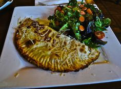 the ham and ricotta calzone at Cinecitta in San Francisco
