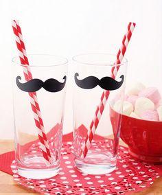 DIY moustache glasses