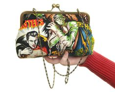 Horror Movie Day Handbag and Clutch In One-- for wedding use?!