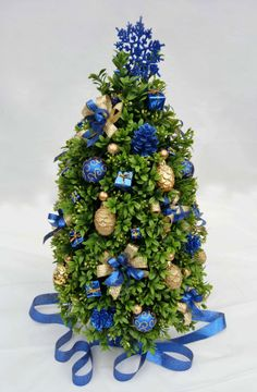 Christmas Tree Premium Artificial Boxwood by NakedAndTrimmedTrees, $90.00