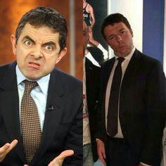 Renzi e fratello Rowan Atkinson detto Mr. Bean posto sare insieme testa faccia è guardo.