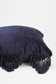 Urban Outfitters Magical Thinking Velvet Fringe Pillow