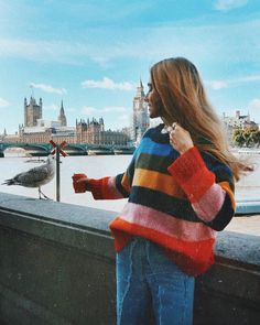 BDG Rainbow Colour-Blocked Jumper | Urban Outfitters | Women's | Jumpers & Cardigans via @oliviabynature #UOEurope #UrbanOutfittersEU #UOonYou