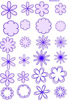 free moldes de flores 3 em formato pdf