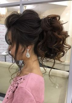 Bridal Hairstyles Inspiration : Long Wedding Hairstyles & Bridal Updos via Elstile / www. Short Wedding Hair, Wedding Hairstyles For Long Hair, Wedding Hair And Makeup, Hair Makeup, Wedding Updo, Wedding Vows, Wedding Cake, Wedding Dresses, Quince Hairstyles