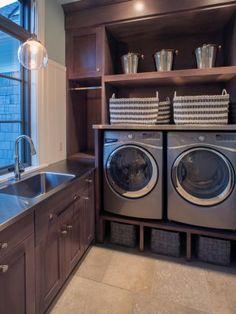 Wasmachine en -droger op hoogte