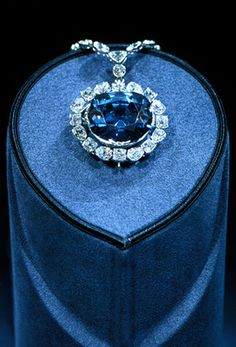 """Hope Diamond ($250 million). Among the most romanticized jewels in the world, the Hope Diamond is housed at the Smithsonian's National Museum of Natural History and considered the second-most visited piece of art in the world (behind the """"Mona Lisa""""). Discovered in India in 1812, the 45.52-carat blue-gray stone has had many owners over the years. ."""