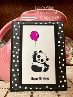 Party Pandas from the Stampin Up! Sale-A-Bration catalog January 3rd 2018.v