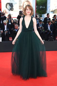 At the Venice Film Festival in 2014, Emma took our breath away in a tulle Valentino Couture gown.