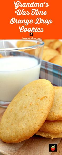 Grandma's War Time Orange Drop Cookies are an old family favorite dating back to the second world war when rationing was in force. Grandma always came up with a great cookie to enjoy! Grandma's War Time Orange Drop Cookies Chocolate Marshmallow Cookies, Chocolate Chip Shortbread Cookies, Toffee Cookies, Spice Cookies, Drop Cookies, Yummy Cookies, Incredible Recipes, Great Recipes, Favorite Recipes