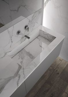 marmur  Suspended bathroom cabinet with mirror SENSE 02 - IdeaGroup