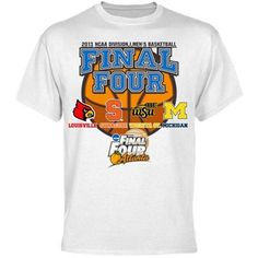"Rally your loudest cheers for the unstoppable on-court action that brought your favorite team to the 2013 NCAA Men's Final Four with this commemorative tee. The front features bold ""Final Four"" lettering and the logos of the competing teams for a spirited display of support! #WATCHUS"
