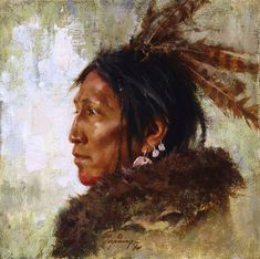 Howard Terpning - Hawk Feathers (http://www.hiddenridgegallery.com/store/howard-terpning/hawk-feathers.html)