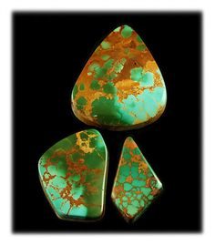 A very good web presentation on Royston Turquoise Cabochons by John Hartman of Durango Silver Company