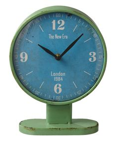 Look at this Green & Blue Desk Clock on #zulily today!