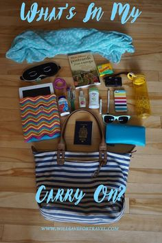 What you need in your carry on bag