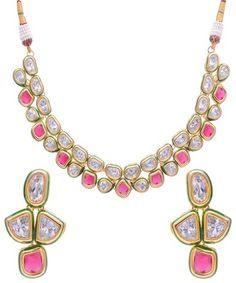 Kundan Meena Set Necklaces and Necklace Sets on Shimply.com