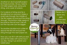 DIY bunny toys