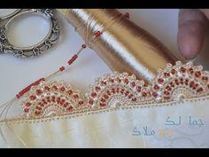 ضرس تقليدي بالكروشي منبت بالعقيق الصغير / جمالك مع ملاك - YouTube