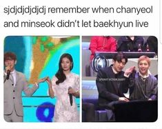 Another random long post of memes to get you through the day Exo edition 😁 *None of these images are mine, cr to owners* Chanbaek, Baekyeol, Exo Ot12, Kyungsoo, Funny Kpop Memes, Exo Memes, K Pop, Steven Universe, Kim Minseok