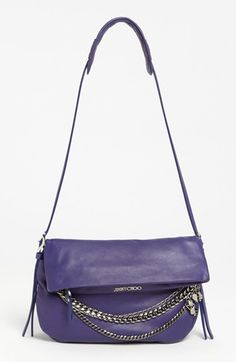 Jimmy Choo 'Biker - Small' Leather Crossbody Bag and purple no less!!!