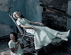 """before you kill us all: EDITORIAL Interview Magazine March 2012 """"Institutional White"""" Feat. Crystal Renn & Karolina Kurkova by Steven Klein"""