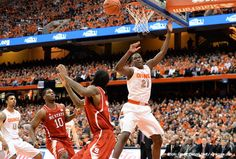 How will the NCAA ruling on Syracuse affect their last game of the season at NC State?