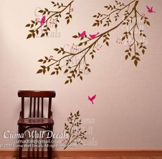 Hey, I found this really awesome Etsy listing at https://www.etsy.com/listing/111991959/tree-wall-decals-birds-nursery-wall