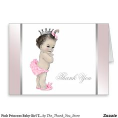 40 Best Baby Girl Thank You Cards Images Baby Shower Invitations