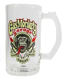 Another great find on #zulily! Gas Monkey Garage Glass Stein #zulilyfinds