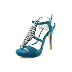Pelle Moda Womens Fiby Platform SandalDark Teal Kid Suede7 M US *** You can get more details by clicking on the image.