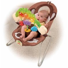 Fisher-Price Deluxe Monkey Bouncer - http://www.discoverbaby.com/fisher-price/fisher-price-deluxe-monkey-bouncer/
