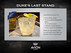 Try out this Avión Añejo recipe provided by David Valiante of Surfin Cowboy in Capistrano Beach, CA.