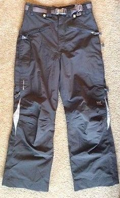 Helly Hansen Men's Helly Tech Two Toned Gray Ski Snow Pants Small