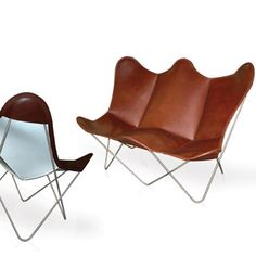 Butterfly Twin Chair - Two-Seater Sofa - image 1 - red dot global design directory Chair Design, Furniture Design, Sofas, Red Dot Design, Red Sofa, Camping Chairs, Global Design, Butterfly Chair, Design Awards