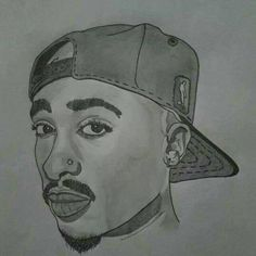 Learn How To Draw 2pac Rappers Step By Step Drawing