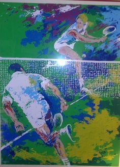 tennis art ... love the action ...