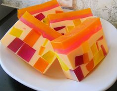 Mango Sorbet Glycerin Soap/ Homemade Soap/ by TheLittleSoapStore