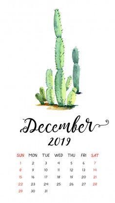 Watercolor cactus calendar for December Premium Vector Watercolor Cactus, Abstract Watercolor, Simple Watercolor, Tattoo Watercolor, Watercolor Animals, Watercolor Background, Watercolor Landscape, Watercolor Illustration, Watercolor Paintings