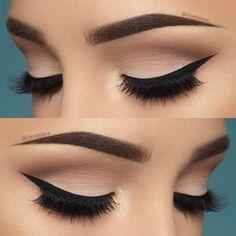 10 Hottest Eye Makeup Looks – Makeup Trends: Natural Smokey Eye with Thick Eyeliner Makeup Goals, Love Makeup, Makeup Inspo, Makeup Inspiration, Beauty Makeup, Perfect Makeup, Gorgeous Makeup, Elegant Makeup, Makeup Style