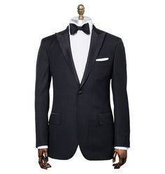custom made mens prom suit/wedding suit for men black tuxedos 3 pieces set include (jacket+pants+tie) on on Suzhou Itailor wedding Ltd $159.00