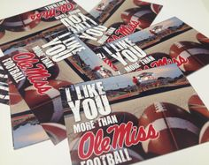 Looking for last-minute Valentine's Day ideas? Check out free Ole Miss printable cards in three different designs.