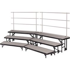 Midwest Folding Products Tiered Tapered Standing Choral Risers 3 Level