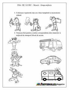 Imagini pentru fise evaluare initiala grupa mare Numbers Preschool, Preschool Worksheets, Preschool Activities, Homework Sheet, Transportation Theme, Pre School, Kindergarten, 1, Teaching
