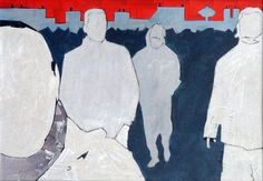 Away collage on wood fibre 70x100 2007