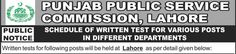 #Jobs in #Punjab #Public Service Commission PPSC Lahore for Draftsman, Information Officer
