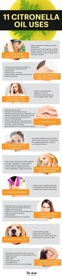 Citronella oil infographic - Dr. Axe http://www.draxe.com #health #holistic #natural