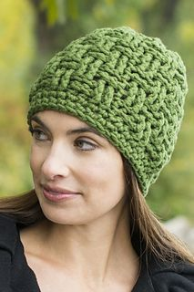 Basket weave hat. FREE crochet pattern.